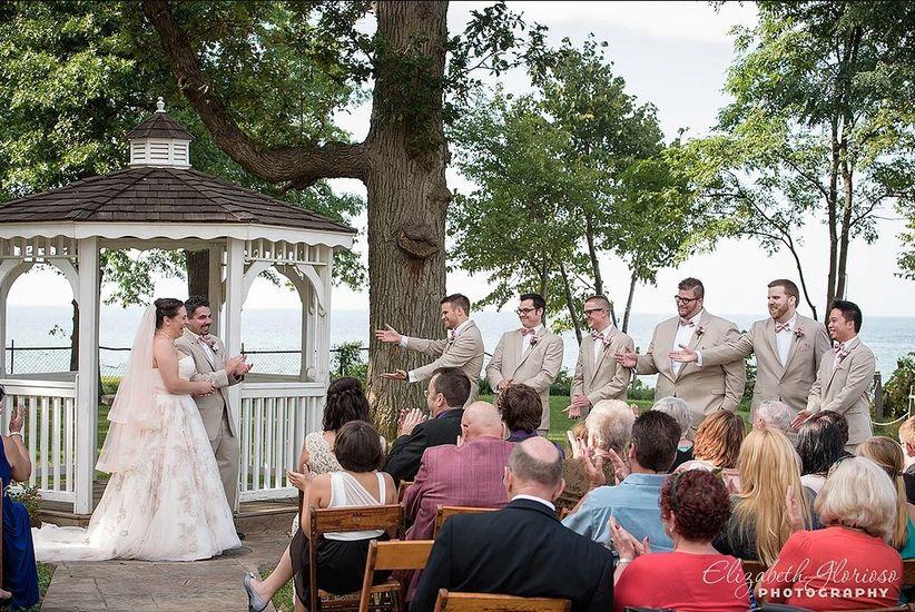 waterfront wedding ceremony Lake Erie Cleveland, Ohio