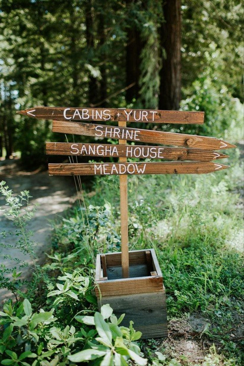 rustic wedding sign DIY