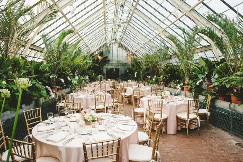 Biltmore Estate greenhouse wedding reception