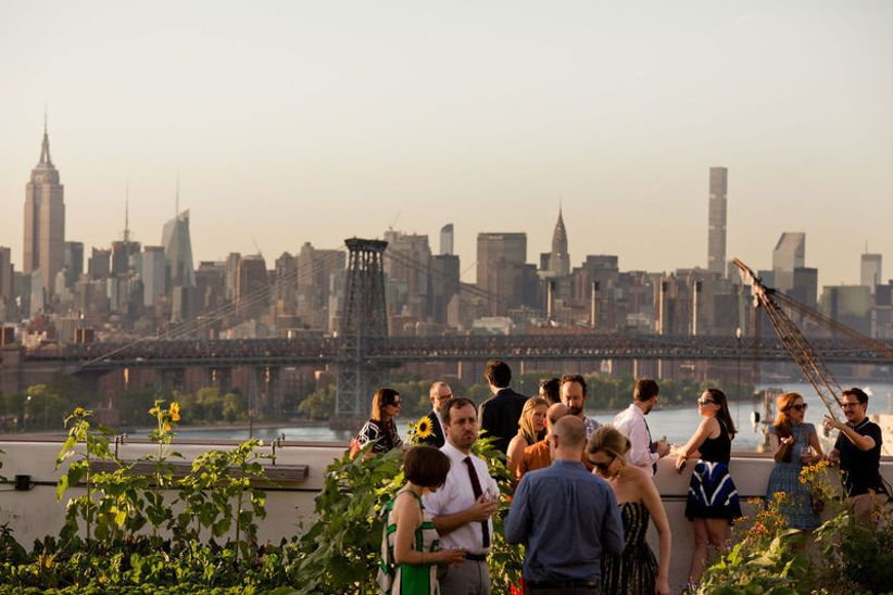 Rooftop Wedding Venues | 6 Rooftop Wedding Venues Brooklyn Couples Love Weddingwire