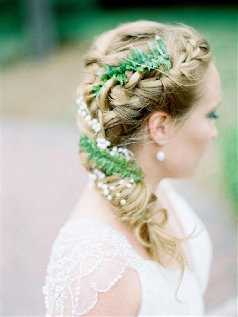 fishtail braid with ferns