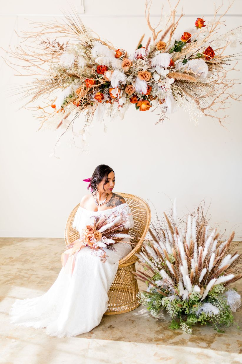 This Bohemian Wedding Color Palette Is Killing It In 2019