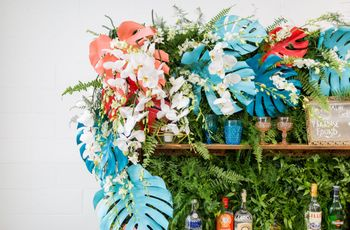The Tropical Wedding Colors Blowing Up in 2019