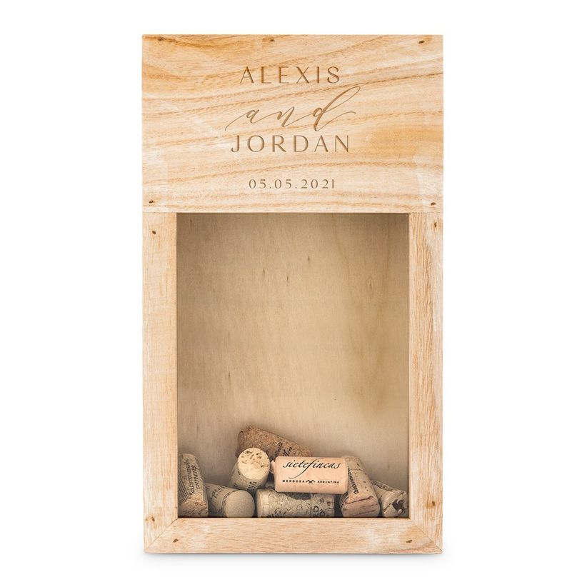 wood cork box