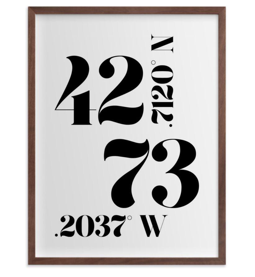 latitude longitude print
