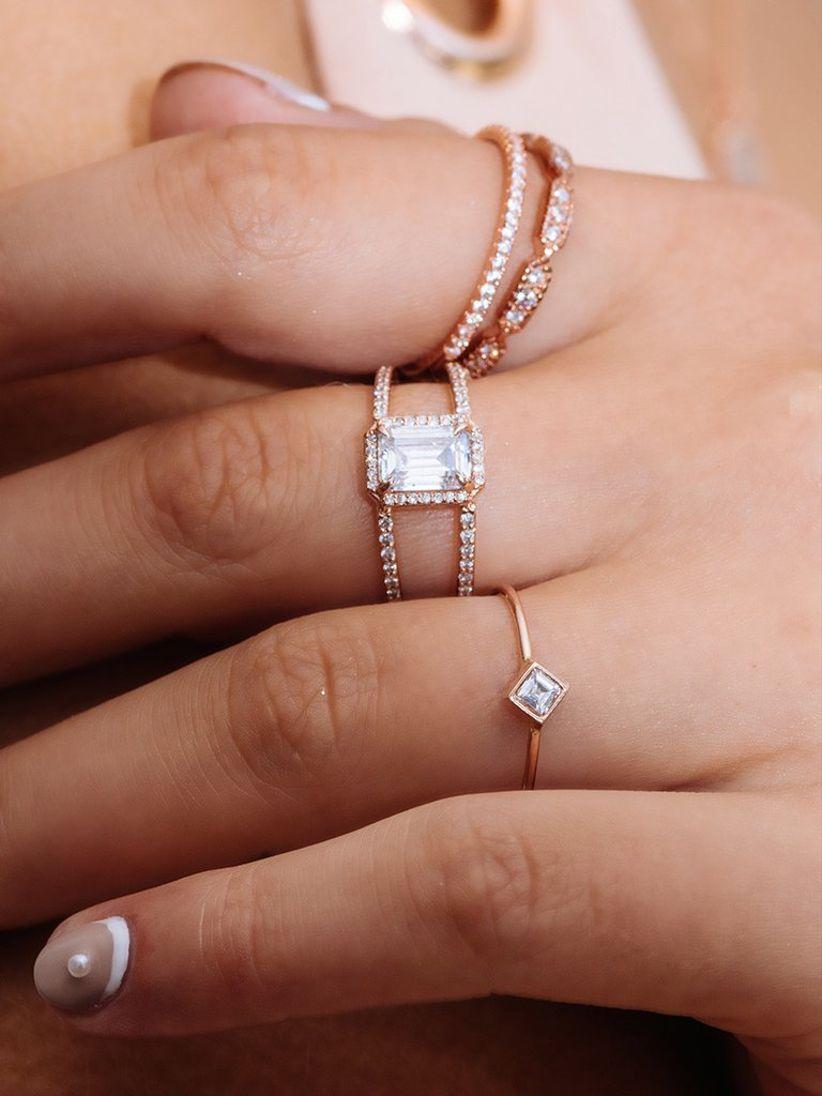 emerald cut engagement ring