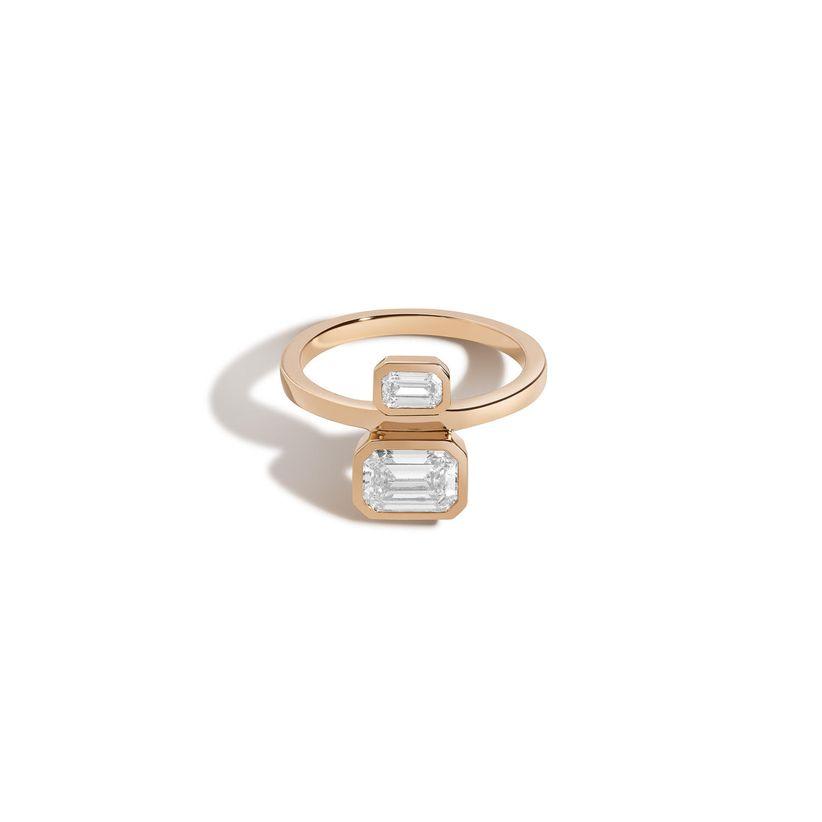 emerald cut bezel ring