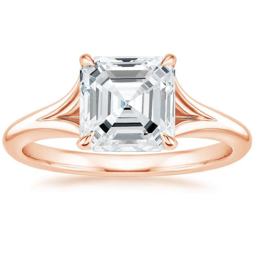 marquise cut and split shank engagement ring