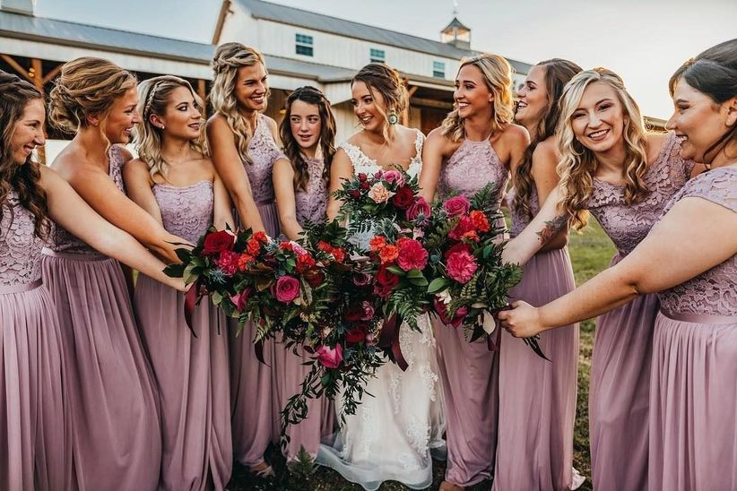 4e27c836d04f 11 Boho Bridesmaid Dresses for a Whimsical Affair - WeddingWire