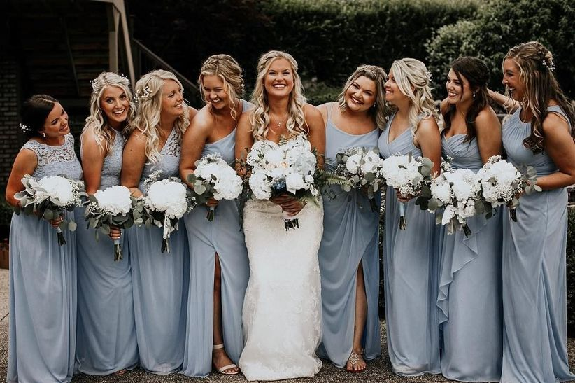 fbe396c529d How to Style Your Bridal Squad - WeddingWire