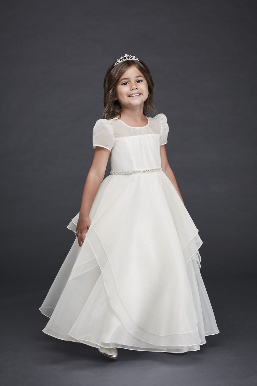 69848b0cacd Check out these flower girl dresses and ensure your little ones complement  the rest of your wedding party.