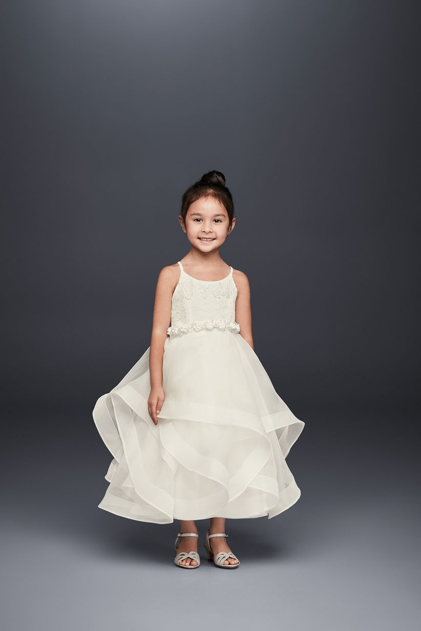 e511edbf1ad Planning a minimalist wedding and want your flower girls to match  Opt for  this sleeveless satin dress.  80
