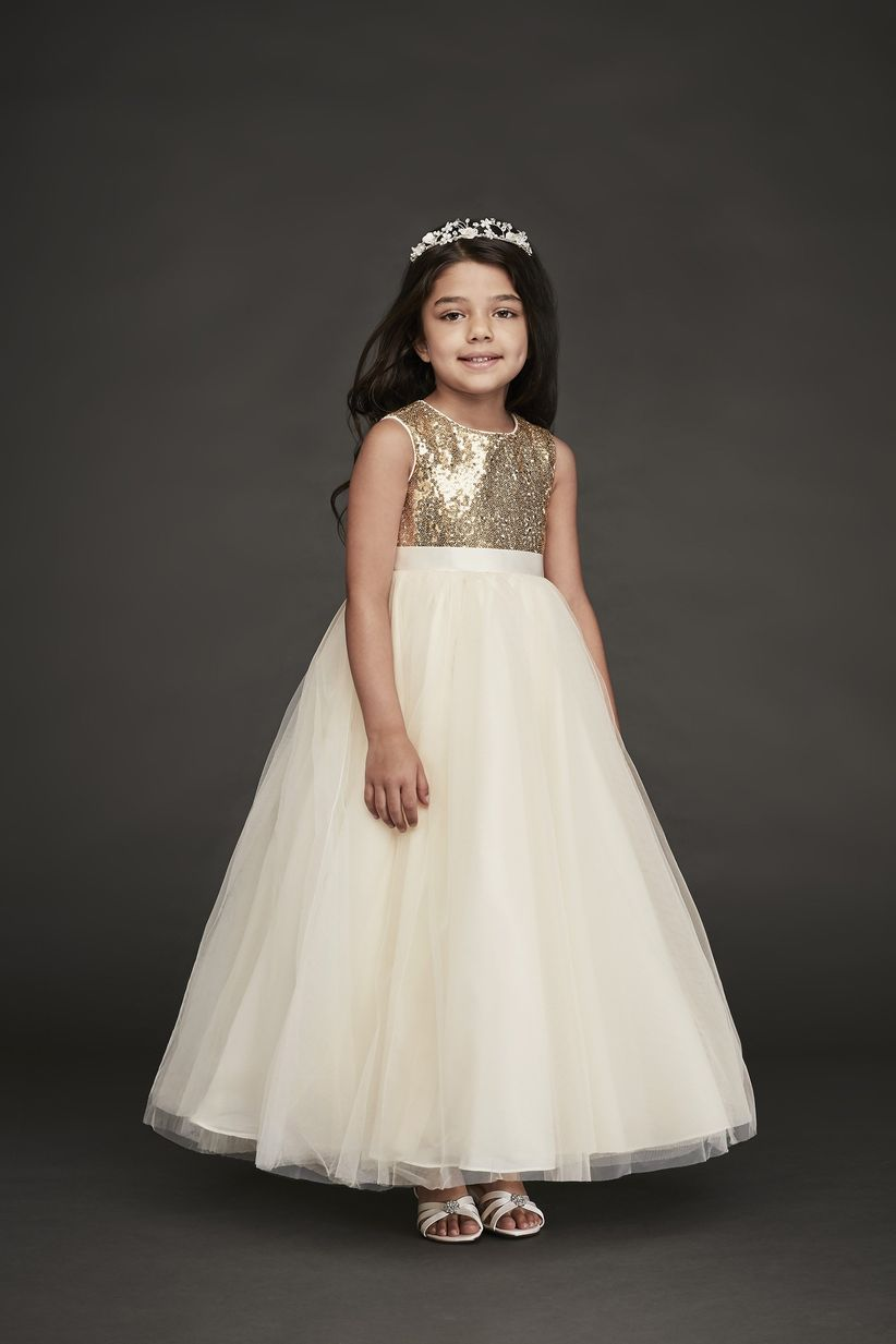 49e2c38fceea 13 Flower Girl Dresses to Match Your Bridal Party Style - WeddingWire