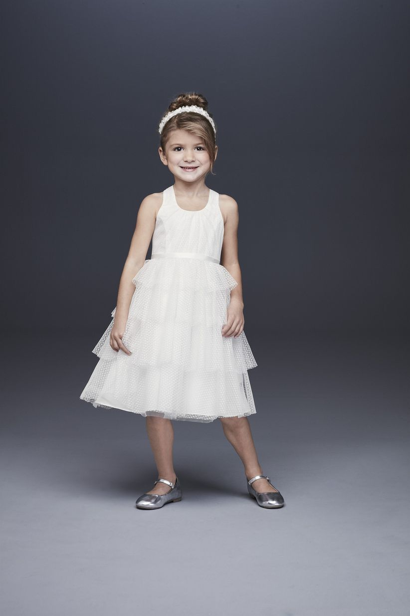 cd5da64931b 13 Flower Girl Dresses to Match Your Bridal Party Style - WeddingWire