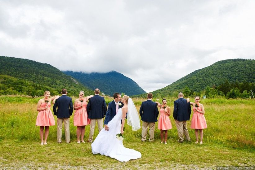 wedding party new hampshire mountains
