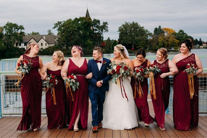 98fb2b4b02 10 Romantic Bridesmaid Dresses Your  Maids Will Love - WeddingWire