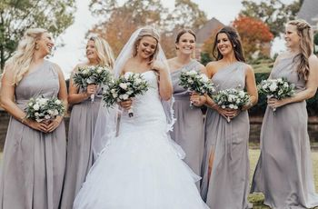 438d6309e0c6d How to Pull off Mix and Match Bridesmaid Dresses - WeddingWire