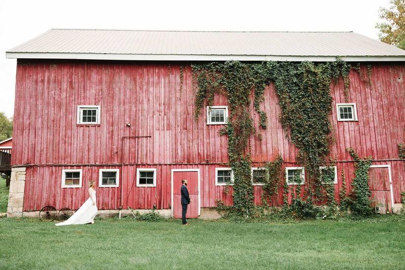 rustic wedding venue historical red barm