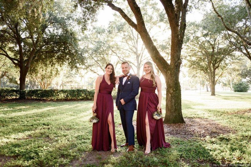 groom with groomsladies