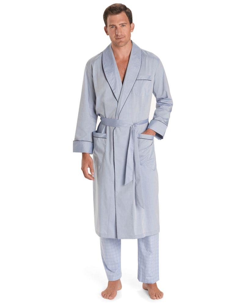 brooks brothers chambray robe