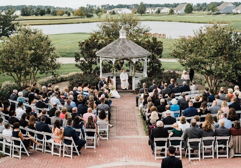 outdoor wedding ceremony heritage shores club