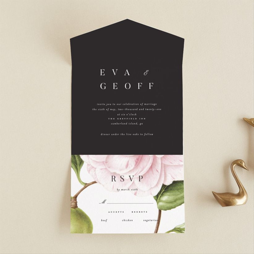 Kelli Hall Botanic wedding invitations, $150 for 100 invitations