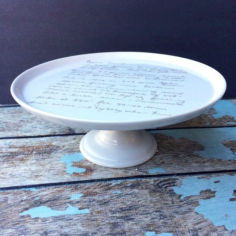 personalized cake stand