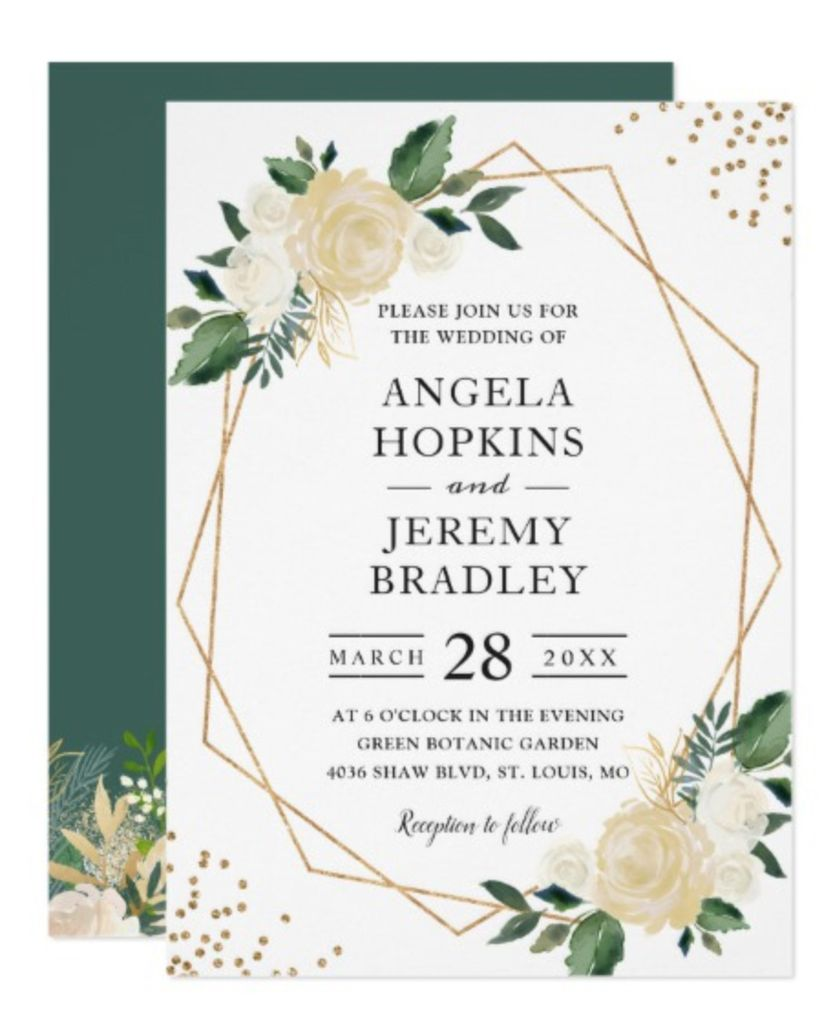 midcentury modern wedding invitation