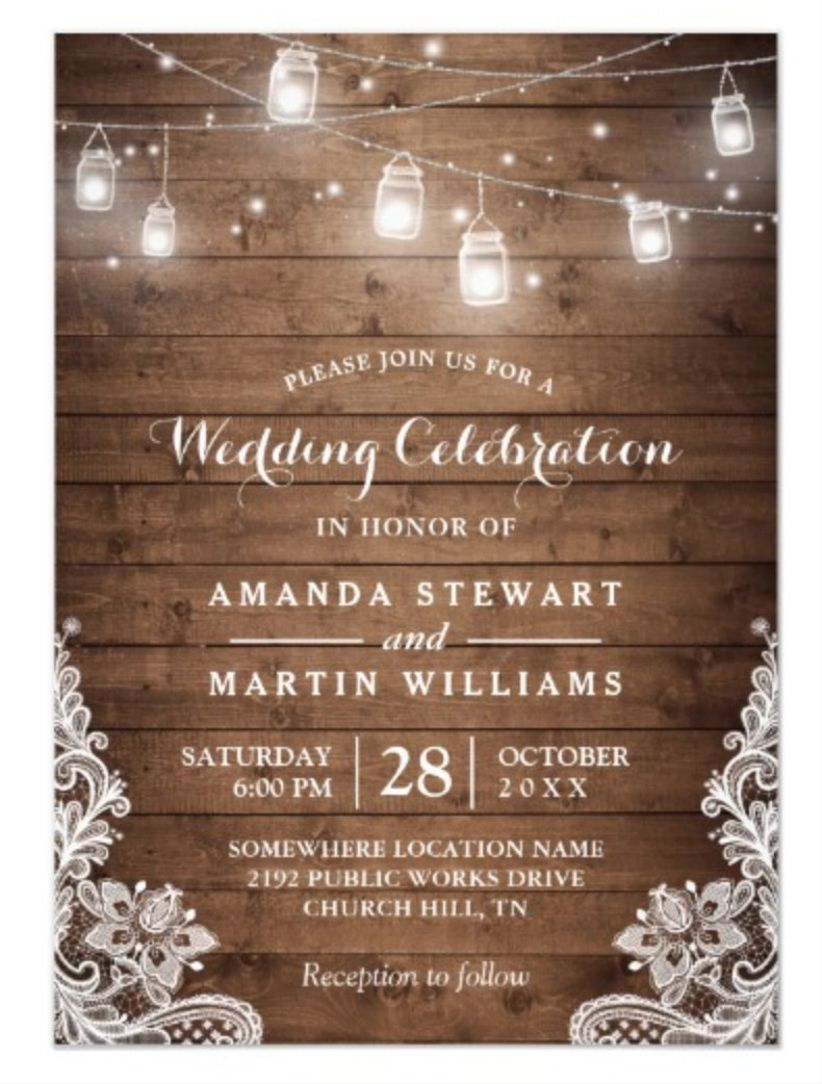 string light wedding invitations