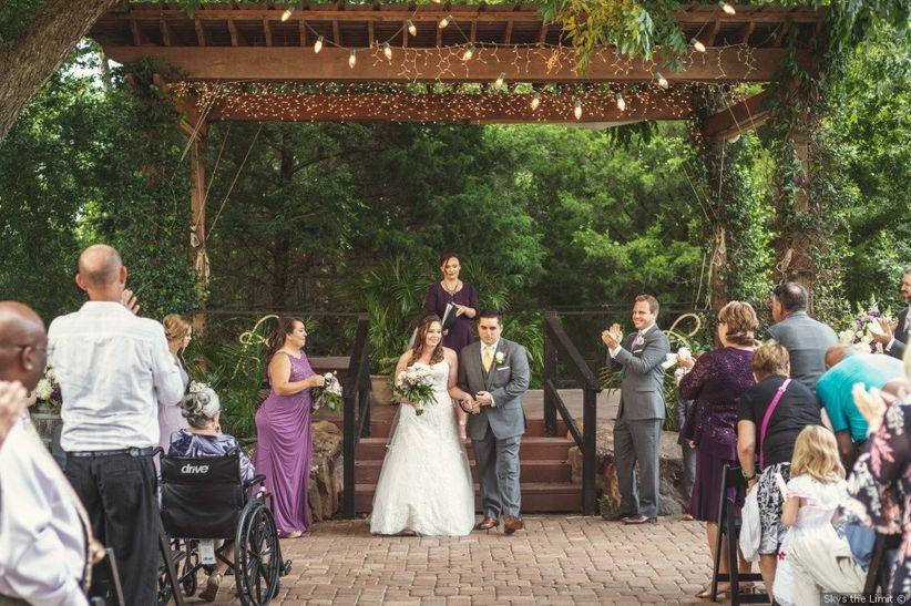 wedding recessional garden