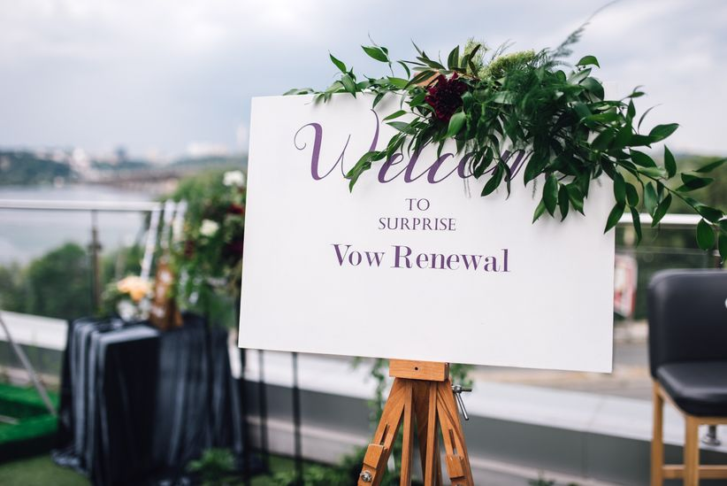 vow renewal sign