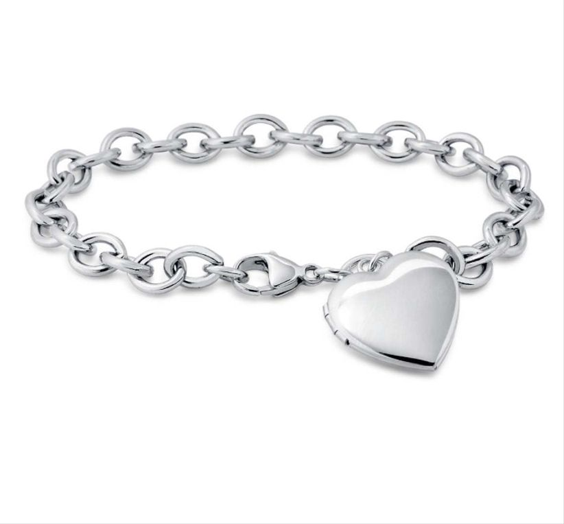 blue nile heart locket bracelet