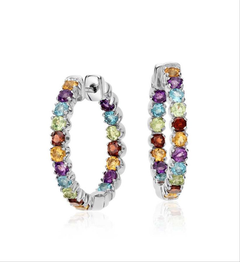 blue nile multicolored hoops