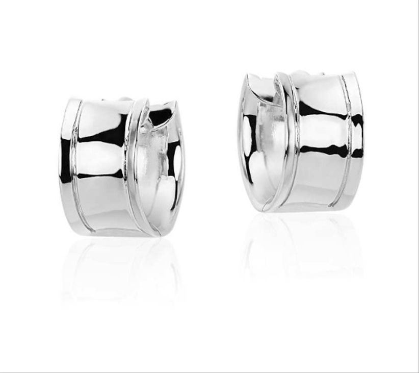 blue nile silver huggie earrings