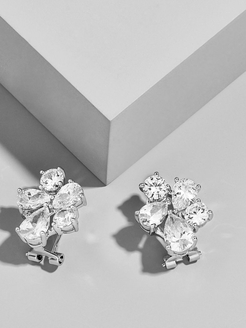 cubic zirconia cluster earrings baublebar