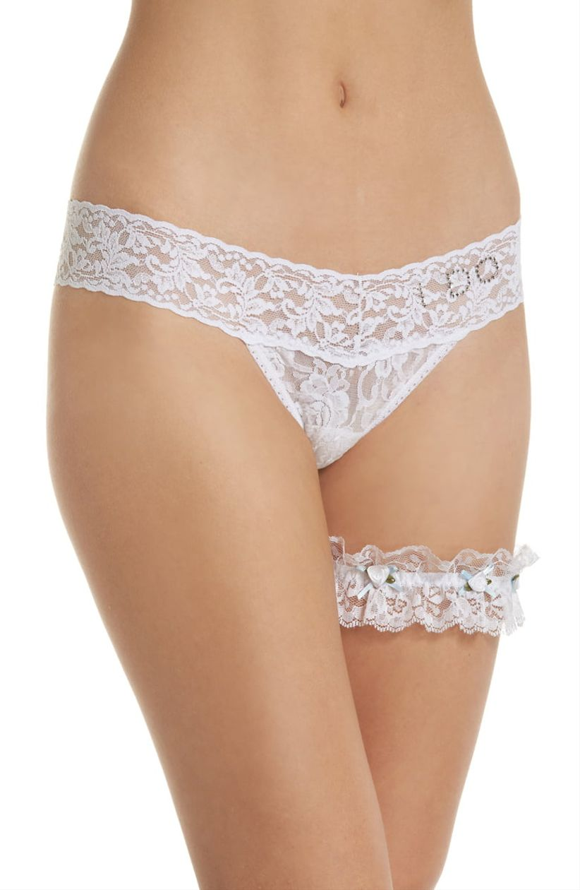 hanky panky thong and garter set