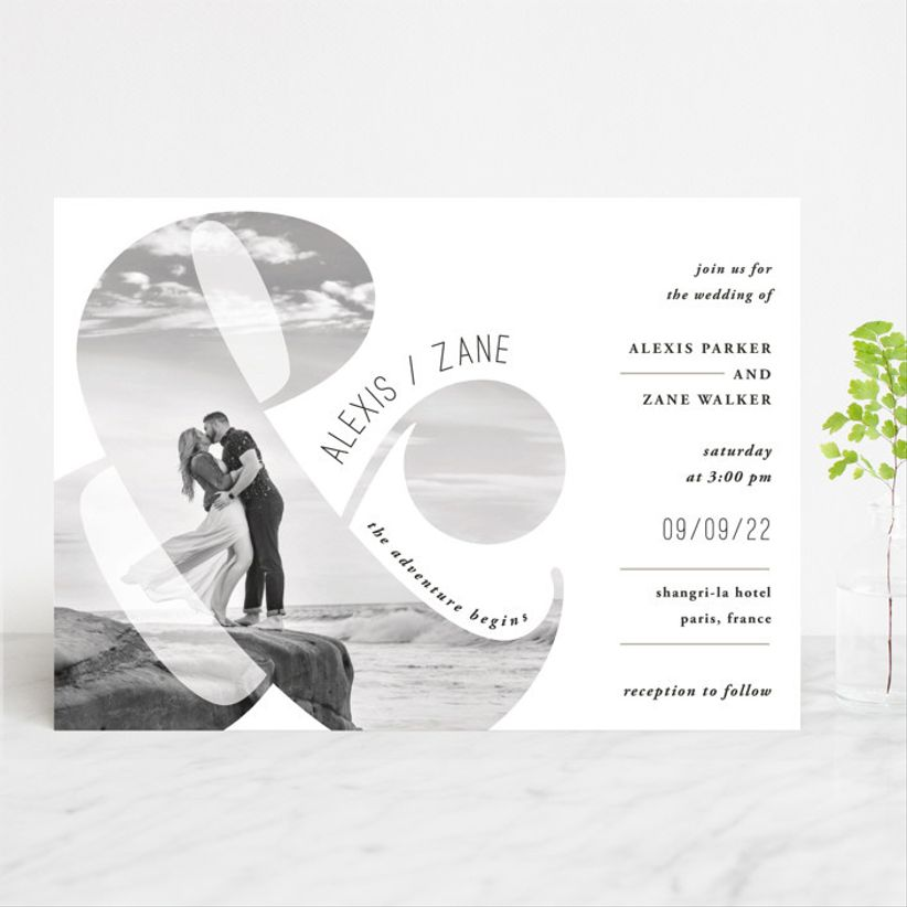 and the adventure begins wedding invitations minted