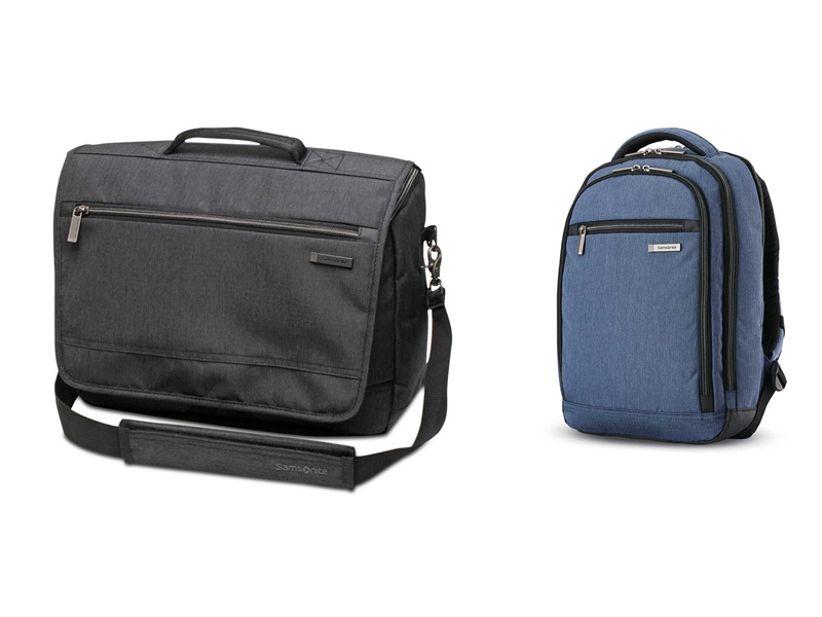 messenger bag and backpack