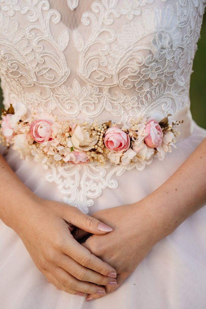 bridal floral sash