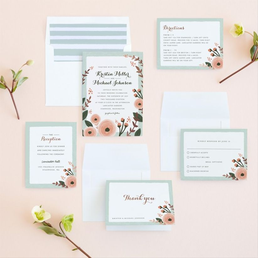 Karidy Walker English Floral Garden wedding invitations