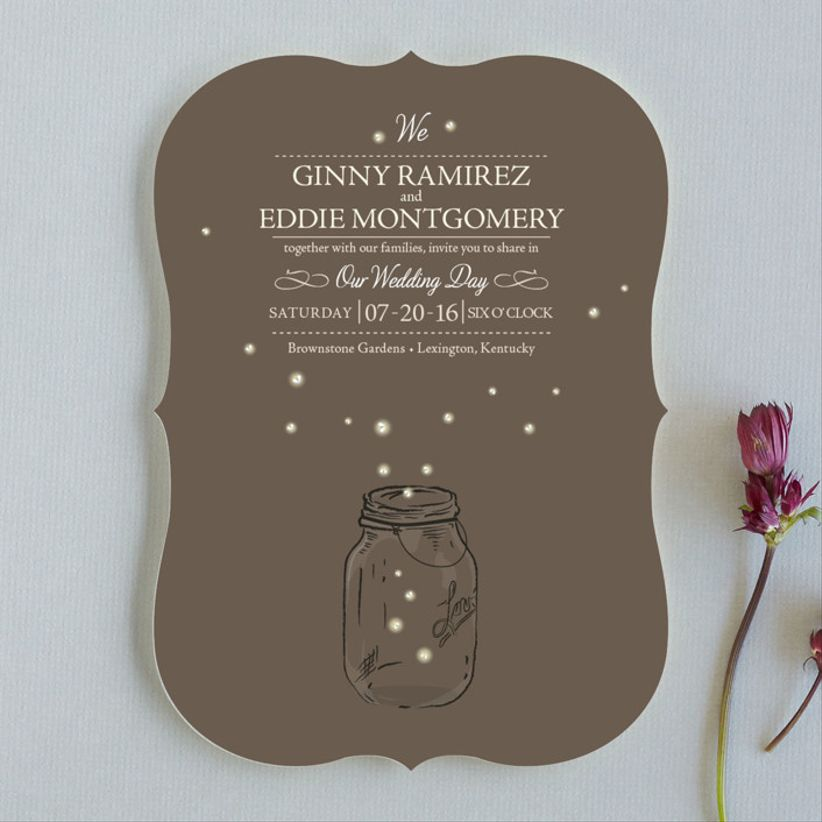 Paige Rothhaar Fireflies wedding invitations