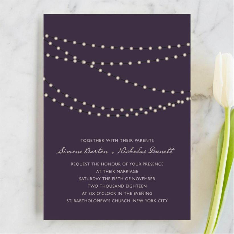Design Lotus Midnight Vineyard wedding invitations