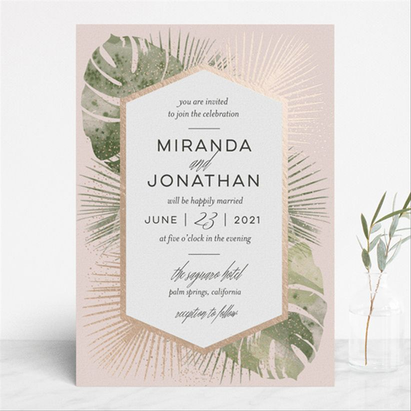 Shoshin Studio Palm Springs wedding invitations