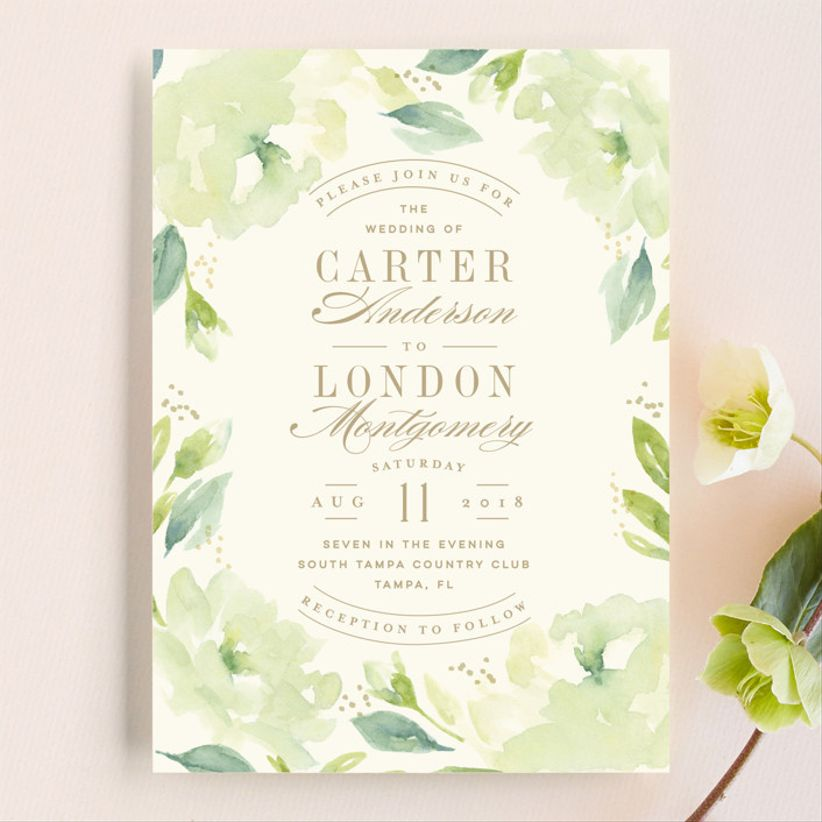 Lori Wemple Southern Garden wedding invitations