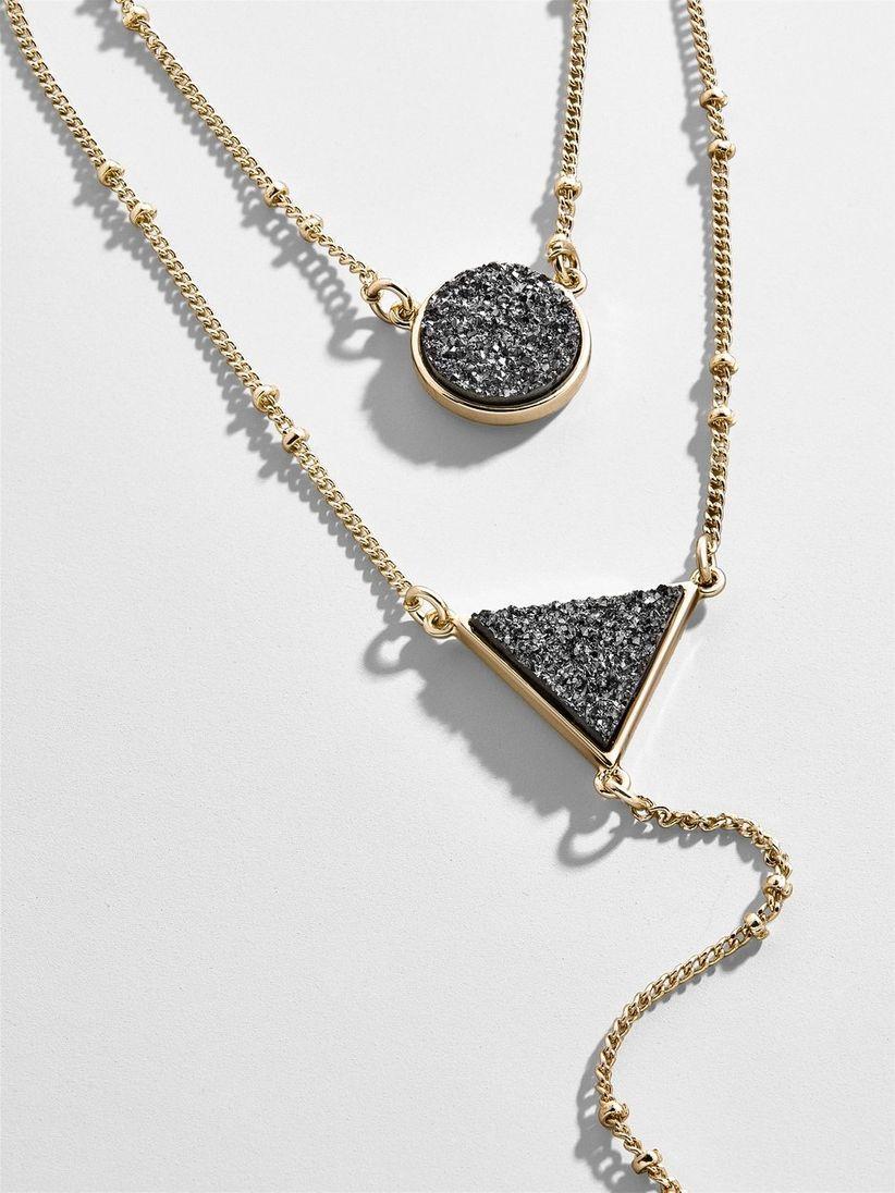 black baublebar druzy necklace
