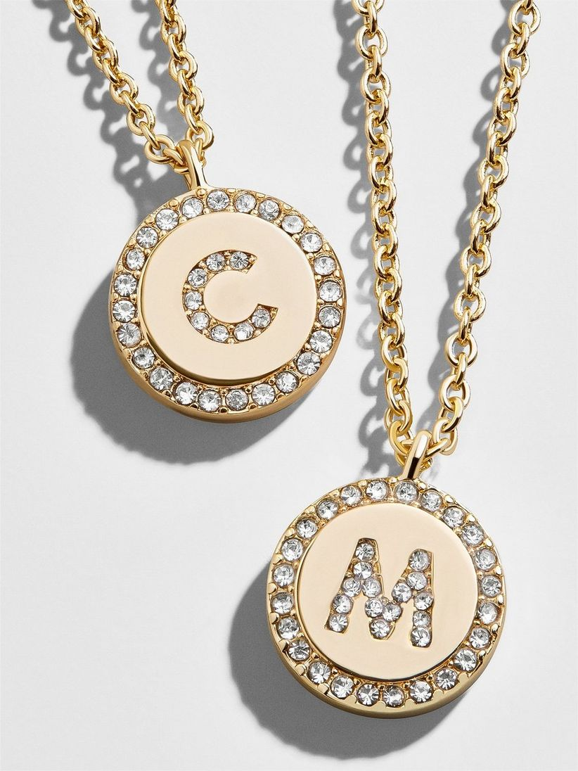 baublebar pave initial necklace