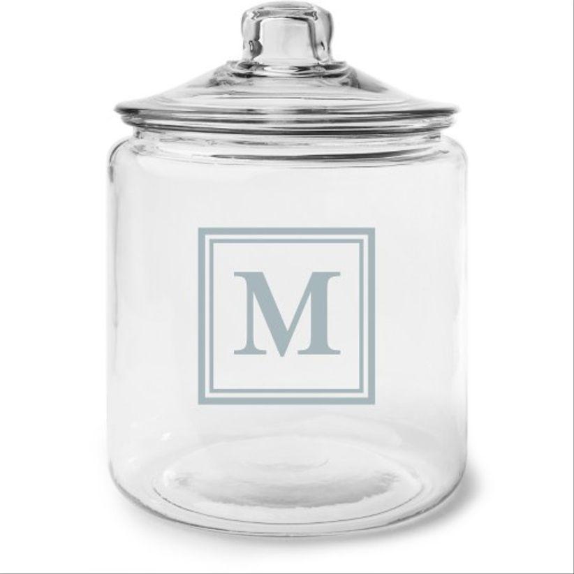 monogrammed jar
