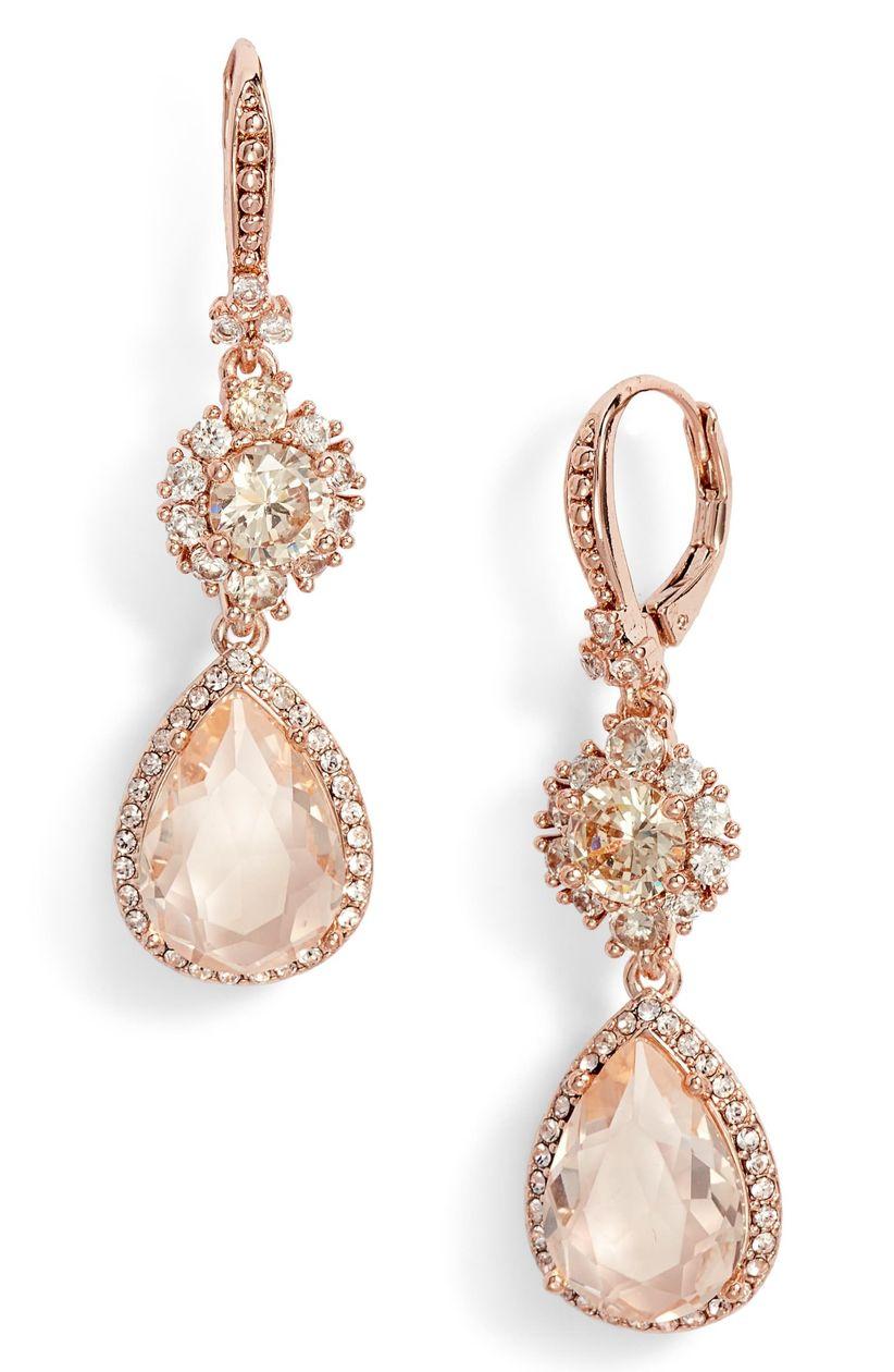 rose gold marchesa earrings