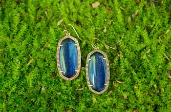 """The 15 Best """"Something Blue"""" Earrings For Your Wedding"""
