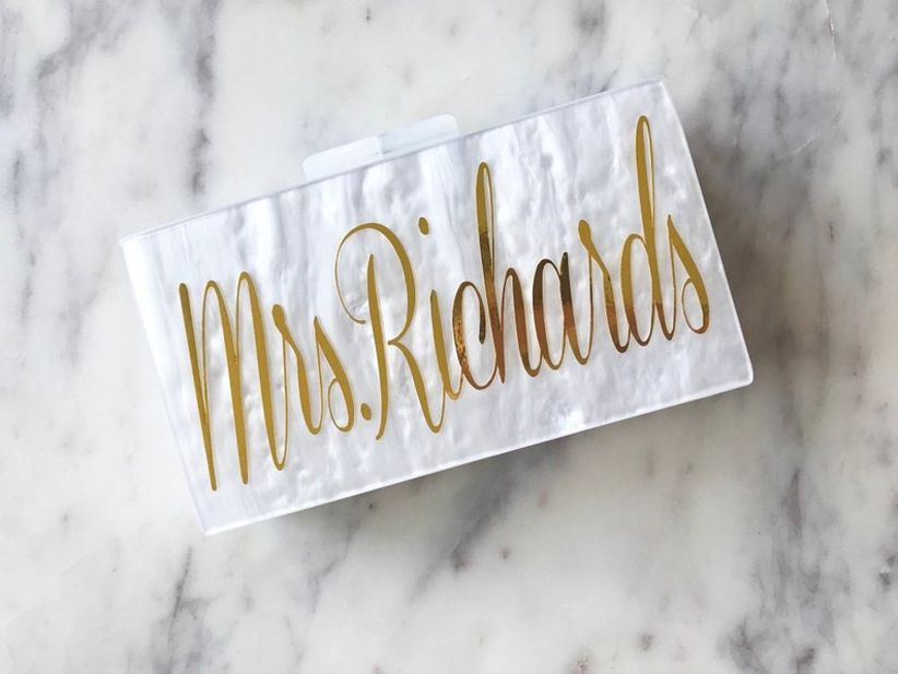 personalized clutch